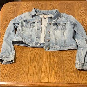 Super soft cropped Old Navy Jean jacket